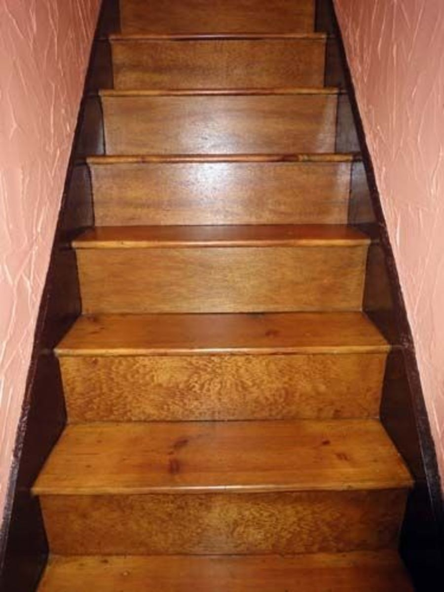 Stairs oak varnished