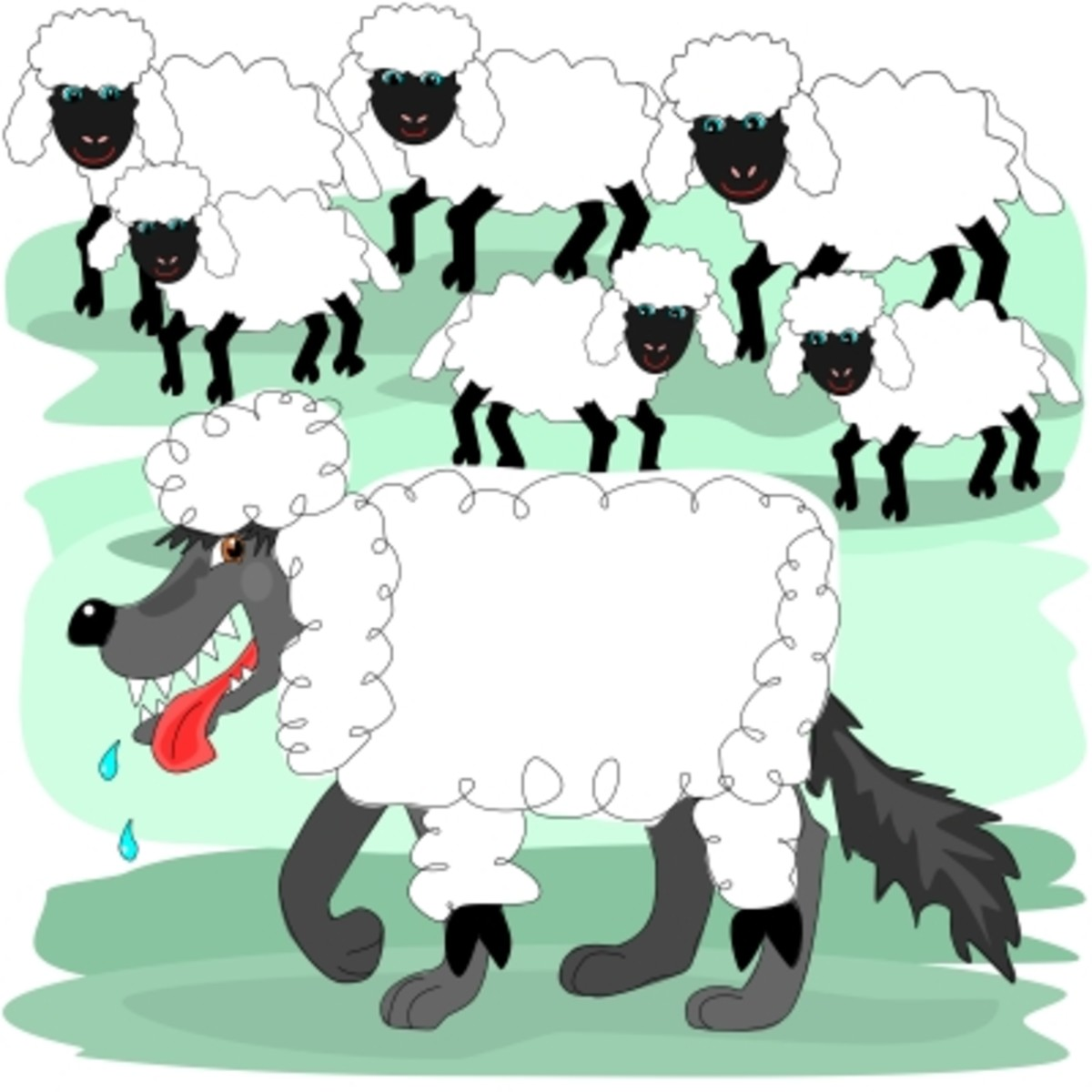 Wolf in sheep's clothing  Can Stock Photo