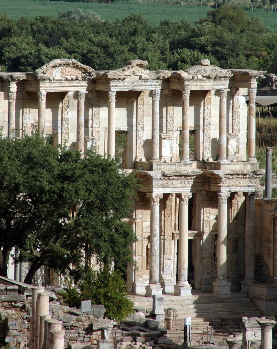 The ruins of the Temple of Artemis in Ephesus.