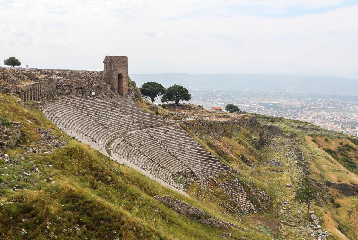 Ancient Greek Theater in Pergamon.
