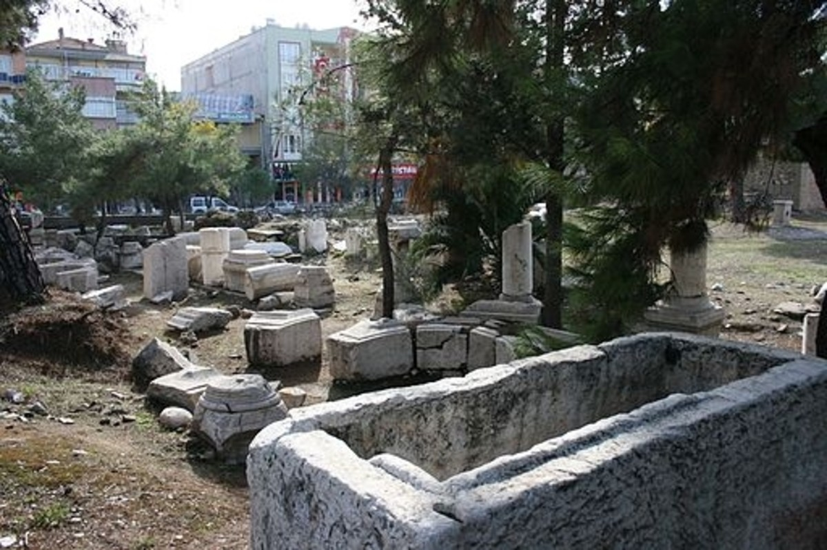 Ancient ruins in Thyatira.