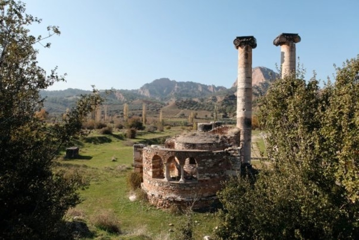 Ruins of the Temple of Artemis in Sardis.