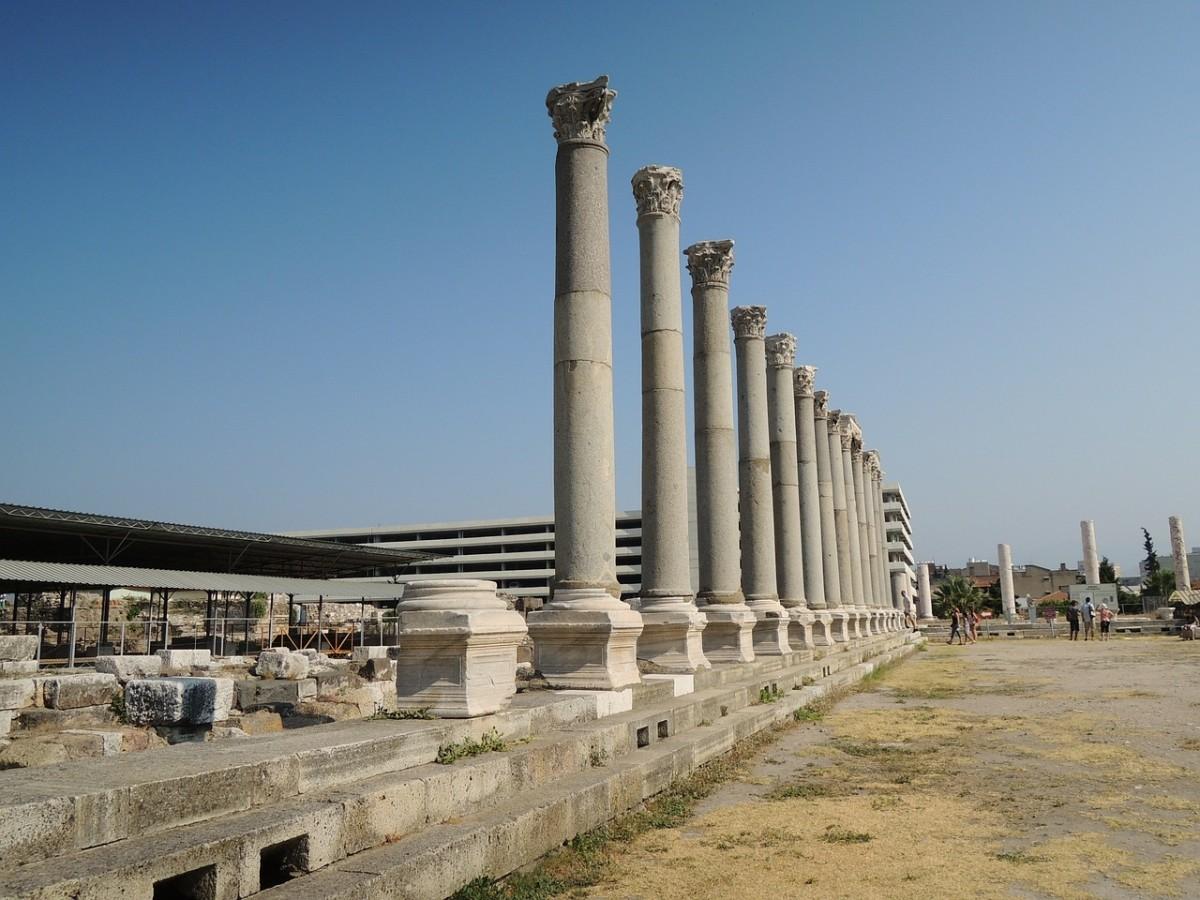 Ancient ruins in Izmir, modern day Smyrna.