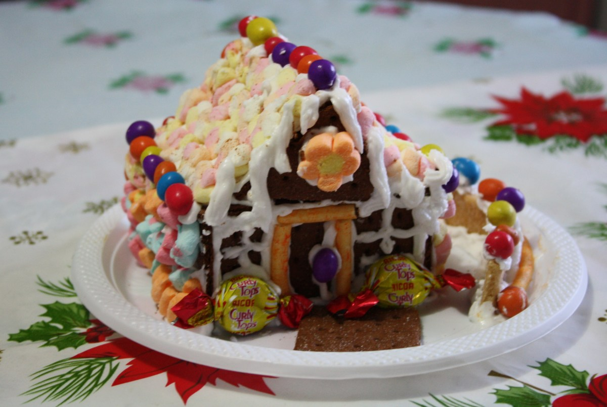Another Gingerbread House made with my niece Ethel.