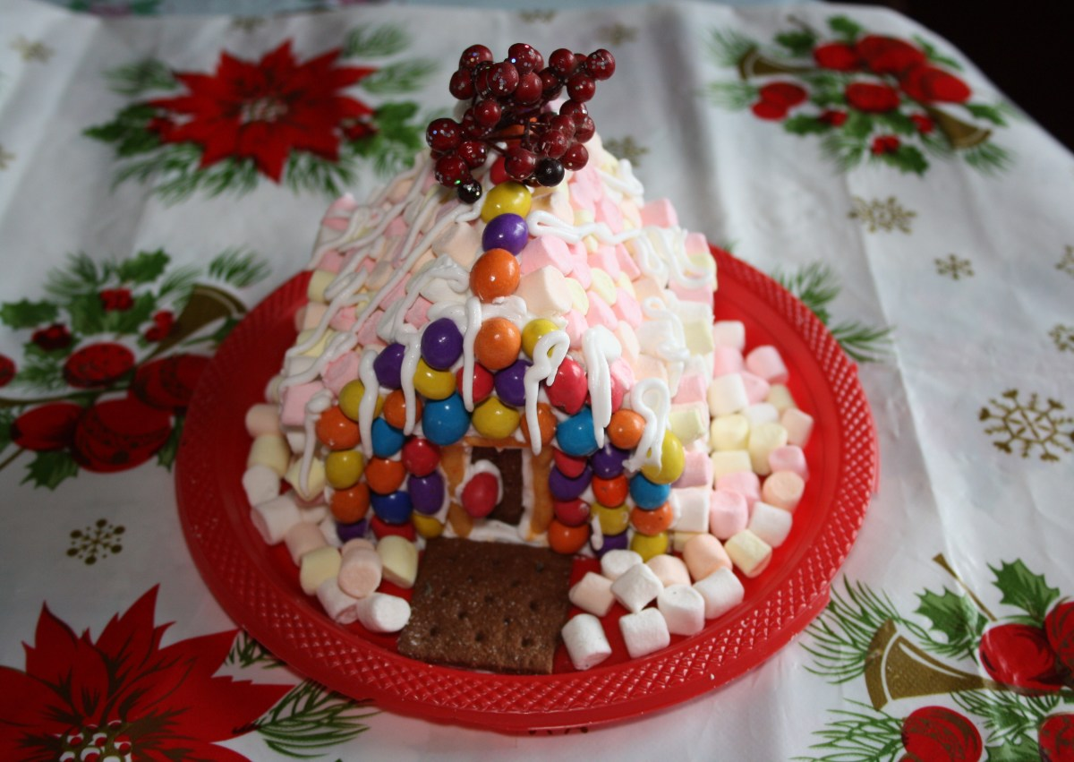 Gingerbread House made of Graham Crackers and Marshmallows