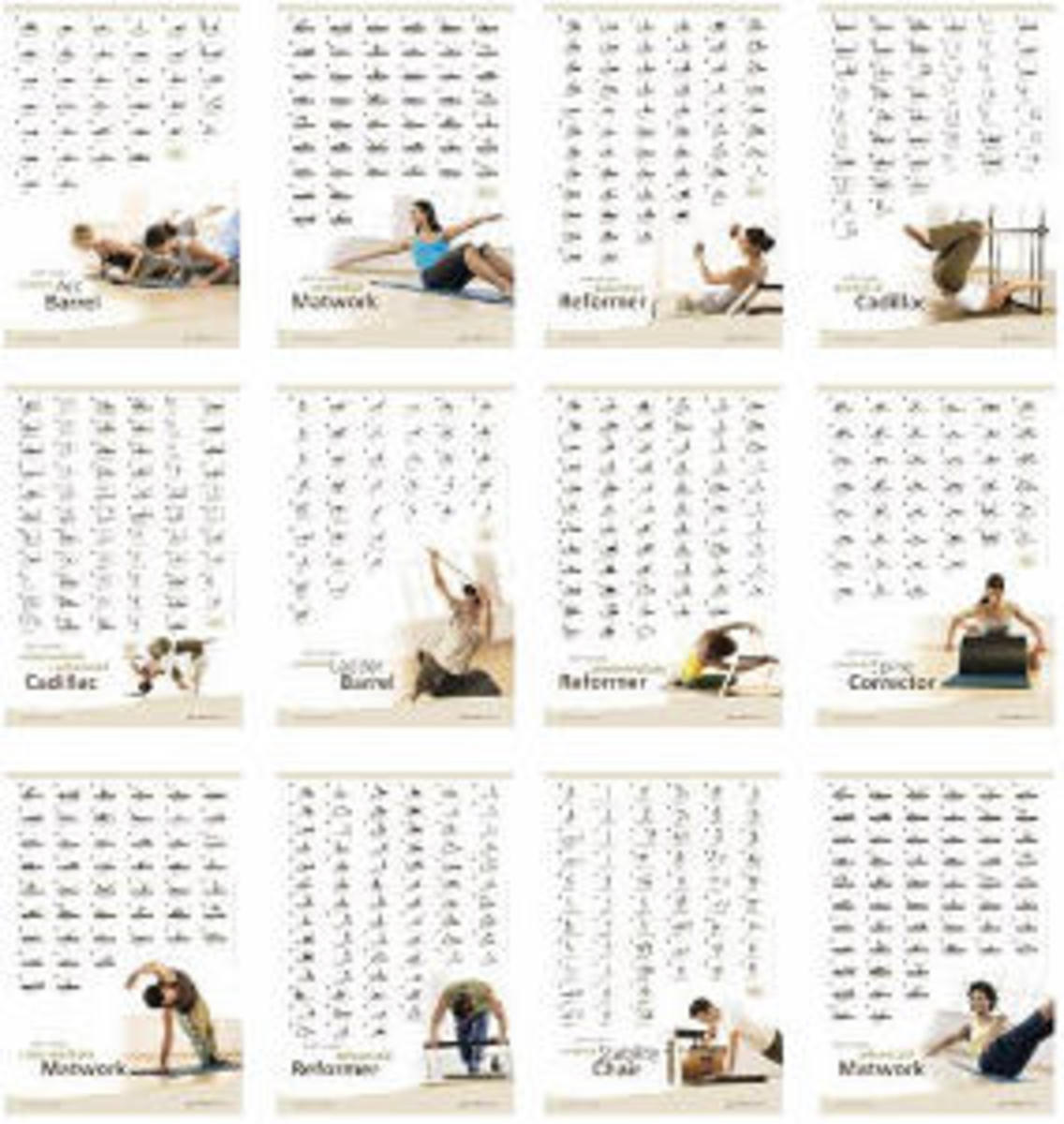 Pilates Exercise Posters