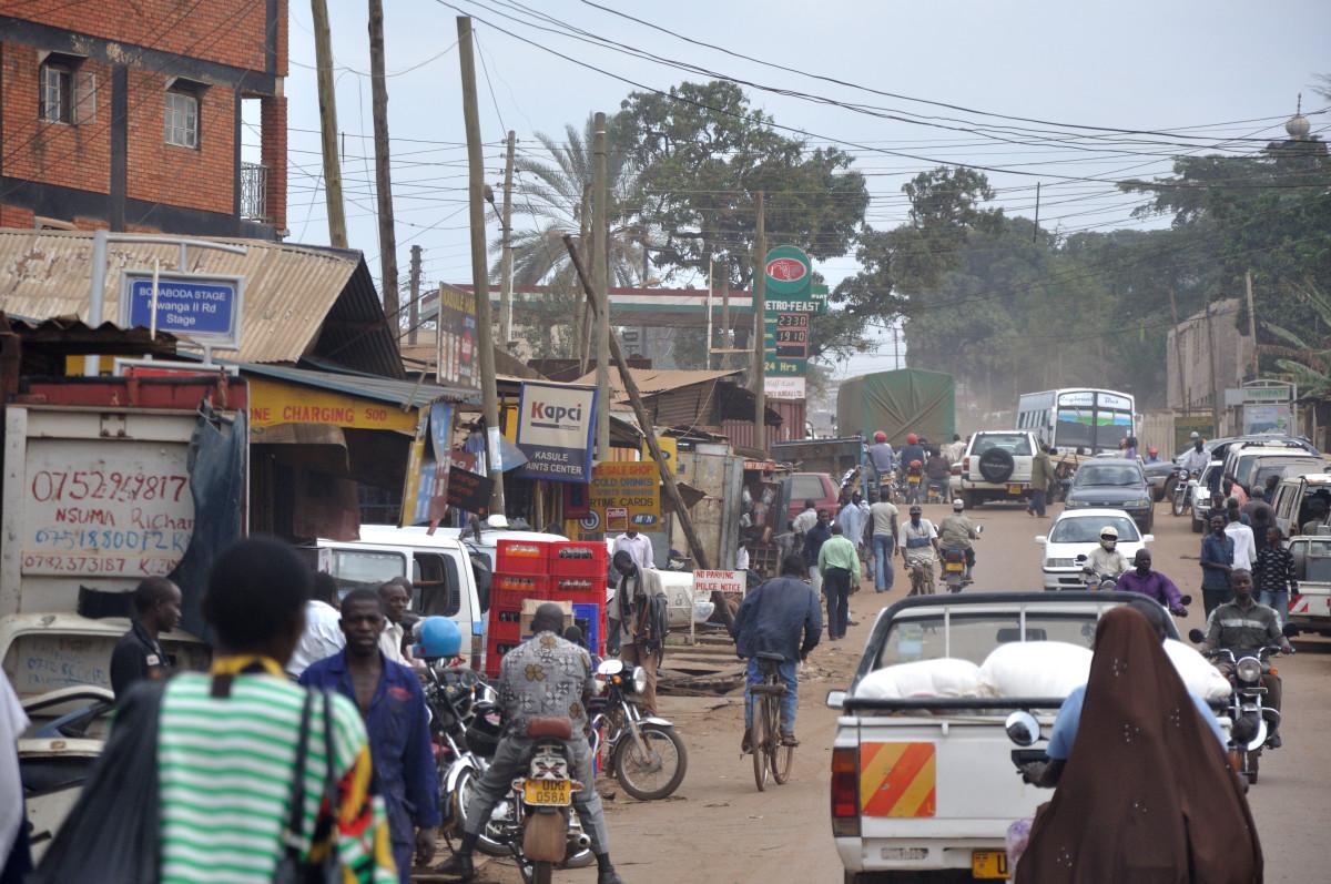 Street scene from Kampala, Uganda