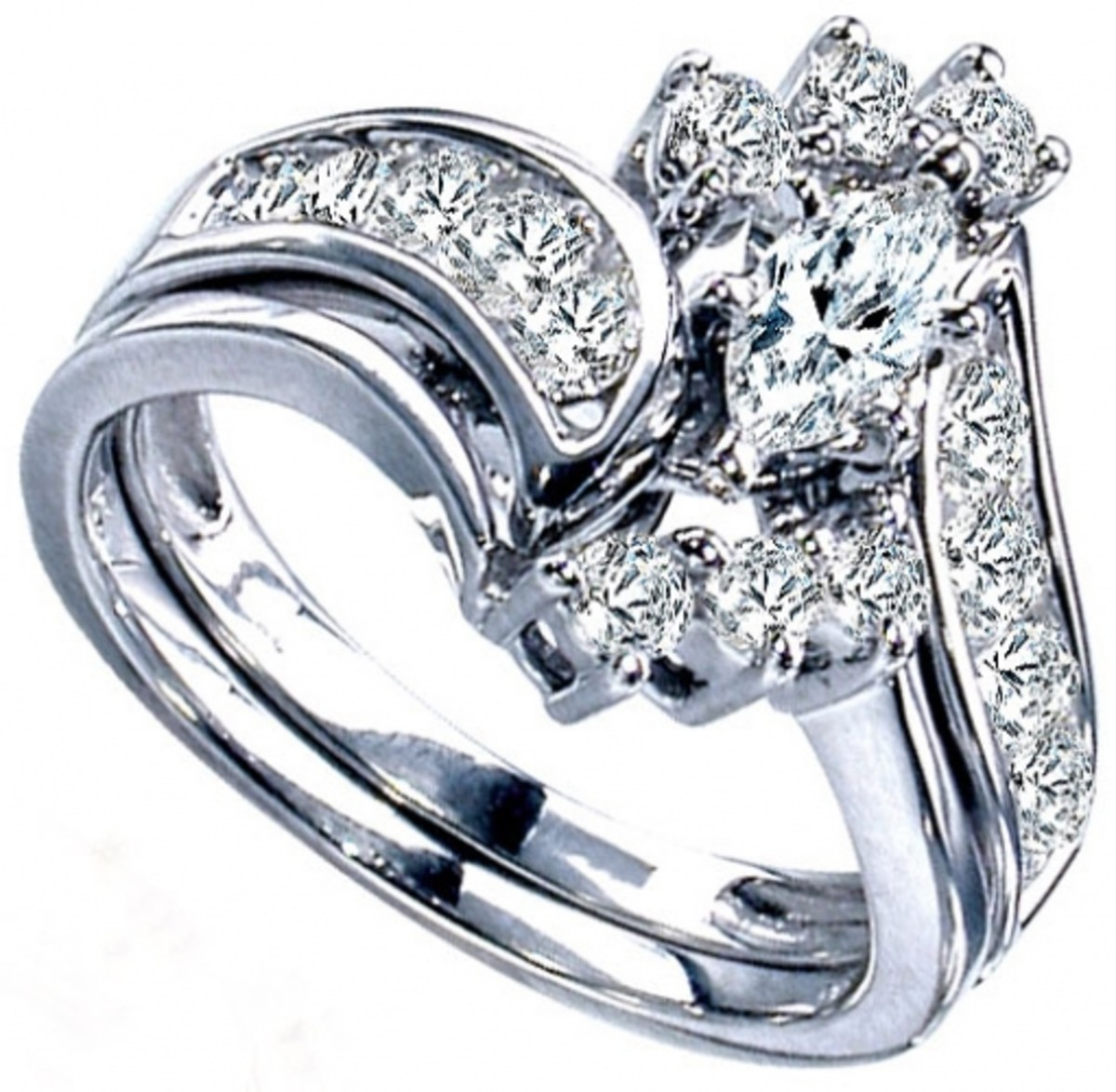 ...a fussy ring with many small diamonds is not a wise choice.