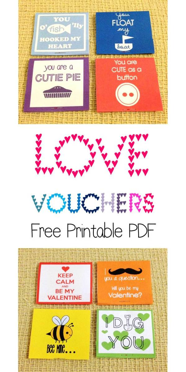 Love Vouchers: Free Printable