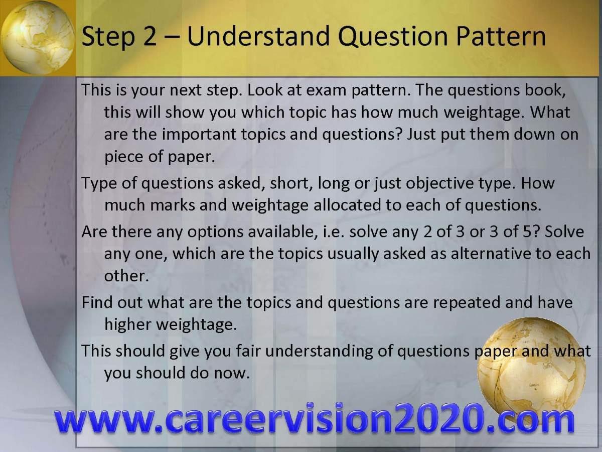 Step 2 - Understanding the Exams