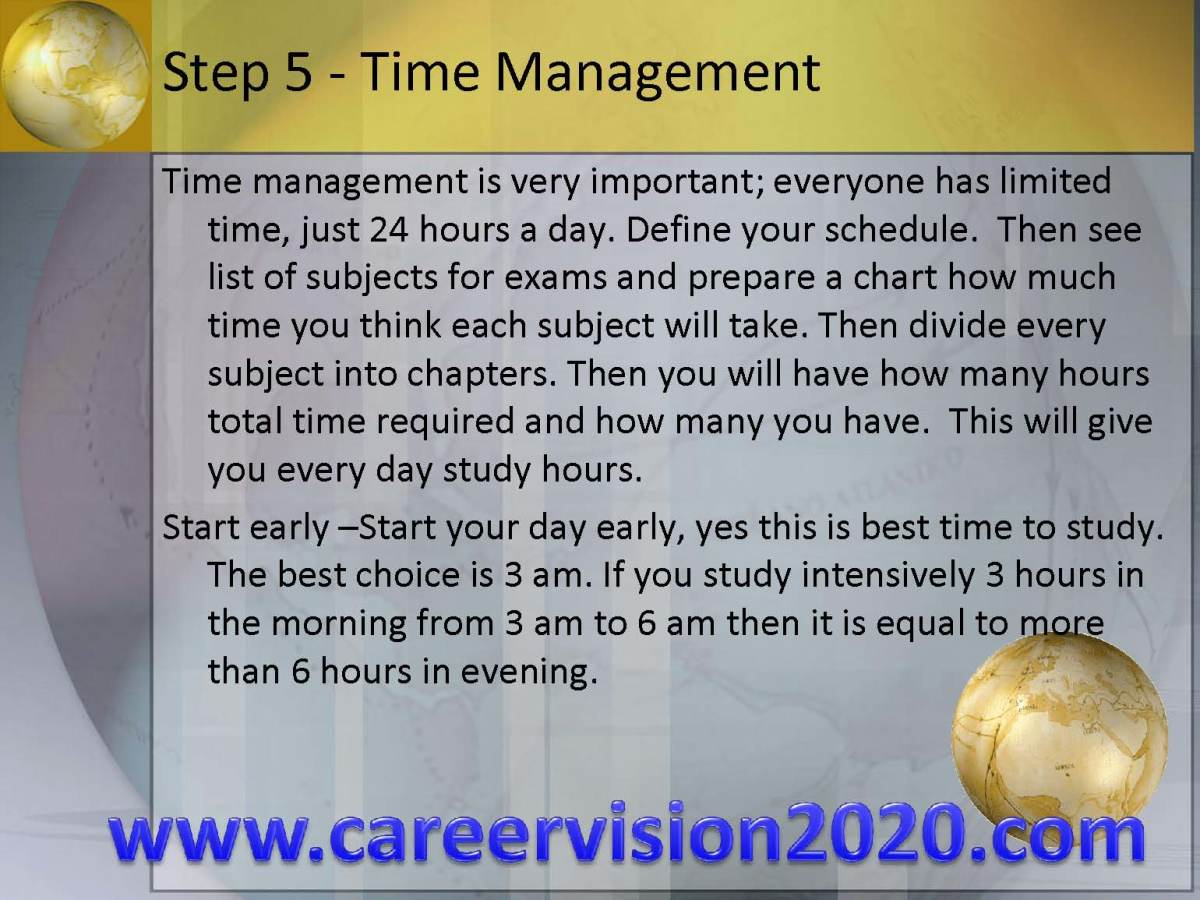 step 5- time Management