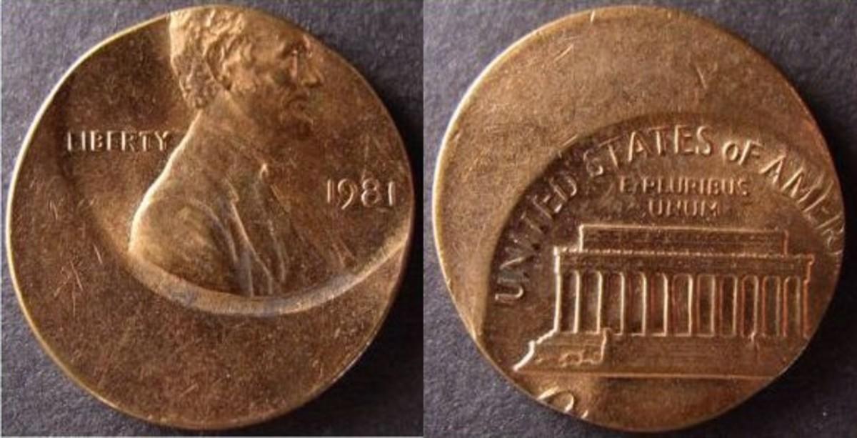 Off-center struck penny.