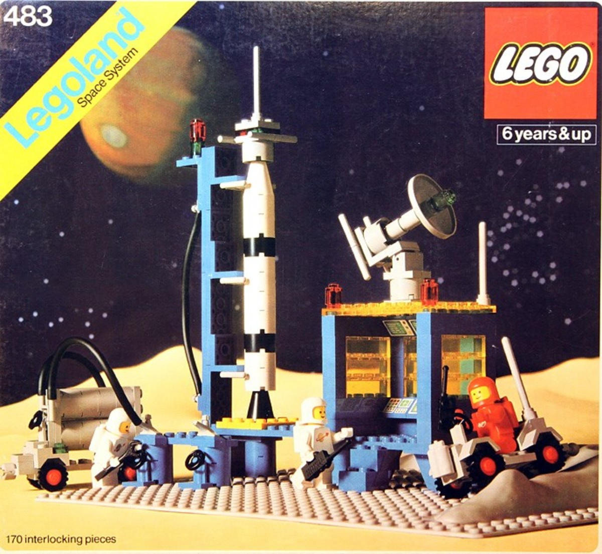 No doubt inspired by the Saturn V Rocket.