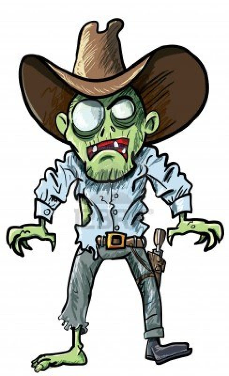 Zombie Cowboy Costumes, Illustrations, Wallpapers and Clip Art