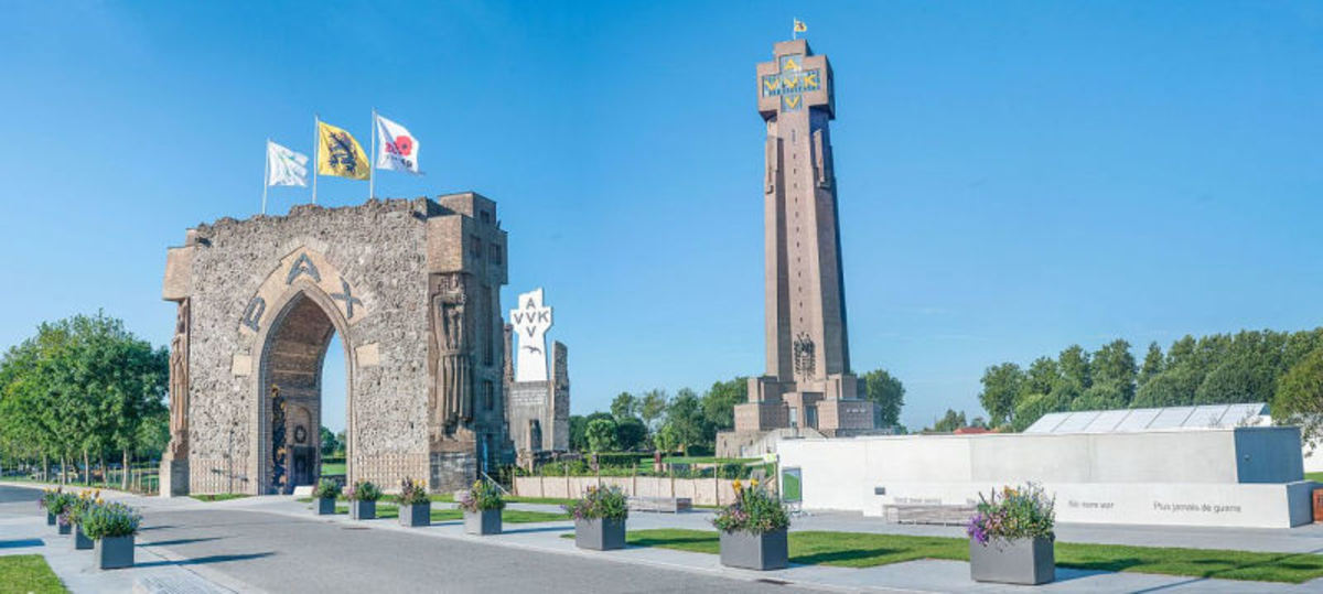 The IJzer tower monument in Diksmuide