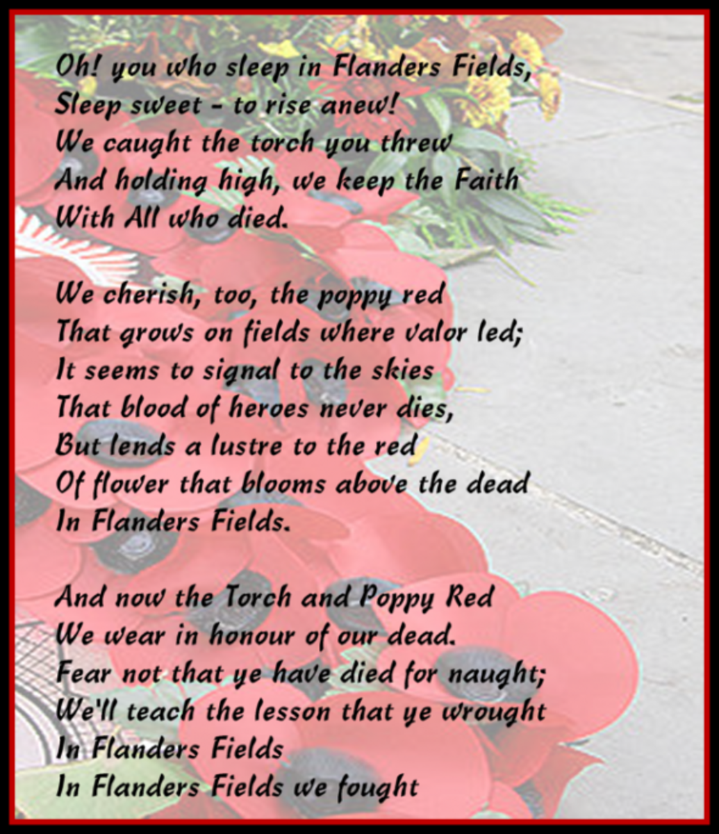 We Shall Keep the Faith - by Moina Michael - November 1918