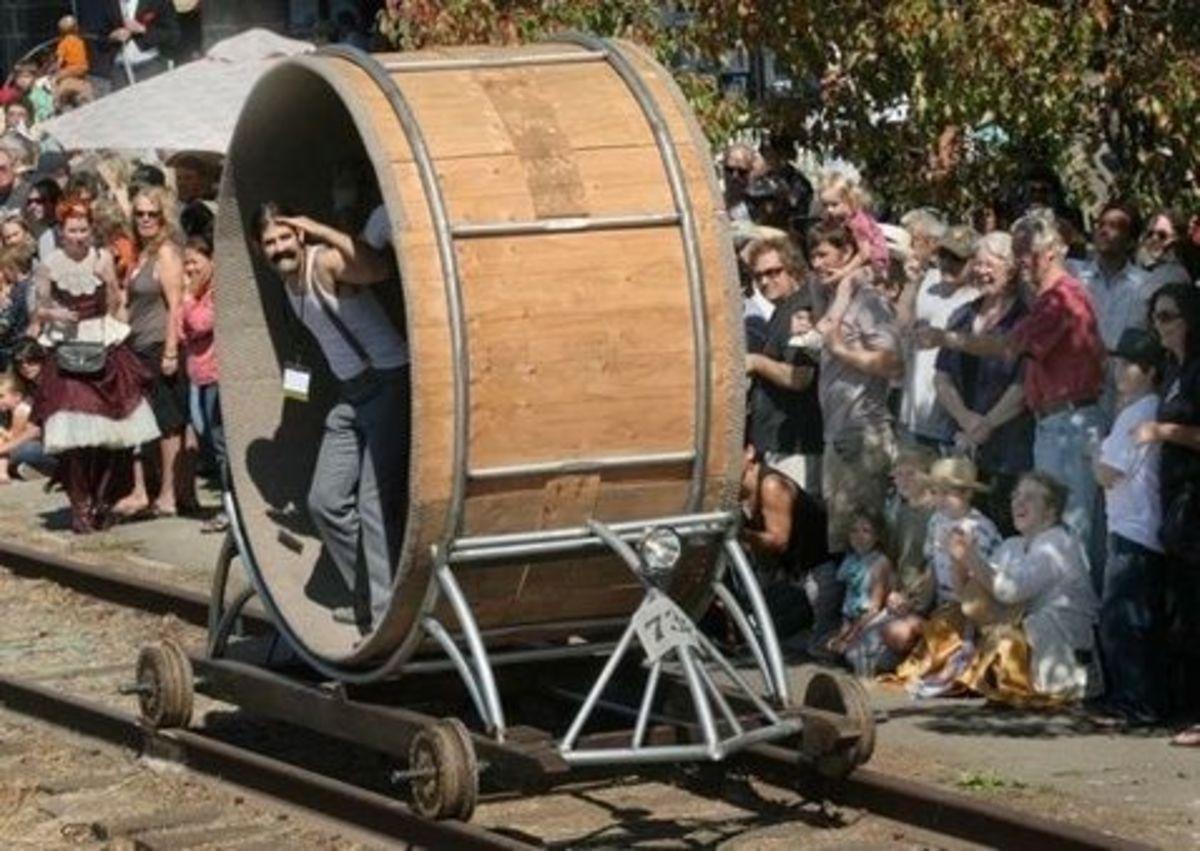 Man Sized Hampster Wheel