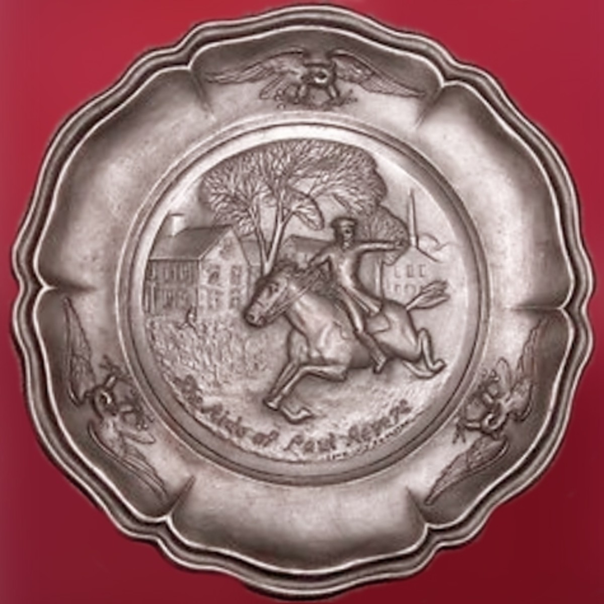 Paul Revere Pewter Plate