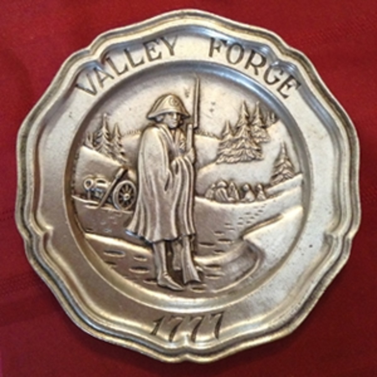 Valley Forge Pewter Plate