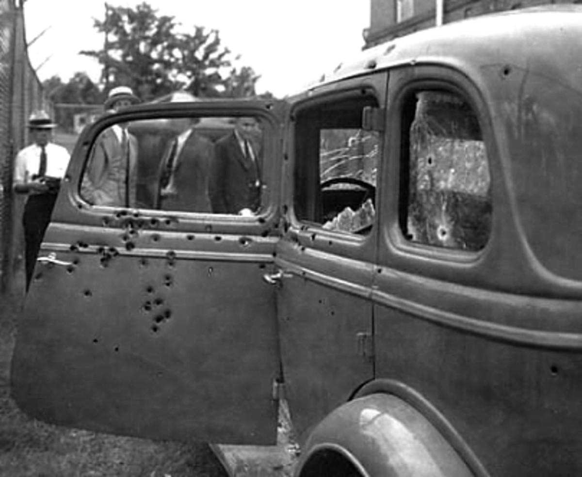 The last car that Clyde Barrow drove