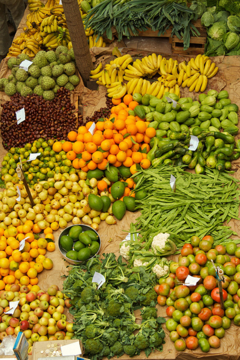 be inspired and go shopping in the fruit and vegetable markets for your homemade skin care and cosmetic ingredients.