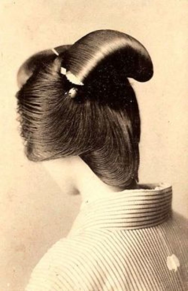 The Nihongami hair style usually needs some combs and supplies to keep it's shape.  The geishas will even use wax called Bintsuke with this hair do.Hair ornaments called Kanzashi are also used to decorate this style hair do.   Photo Credit: Wiki used