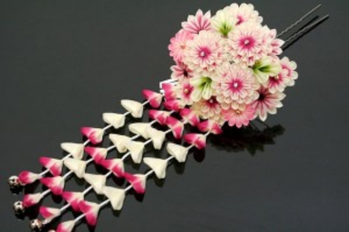 This is called a Kanzashi and it is a hair ornament