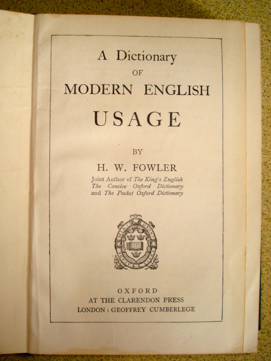 "Known as ""Fowler"", this Prescriptive Grammar was first published in 1828."