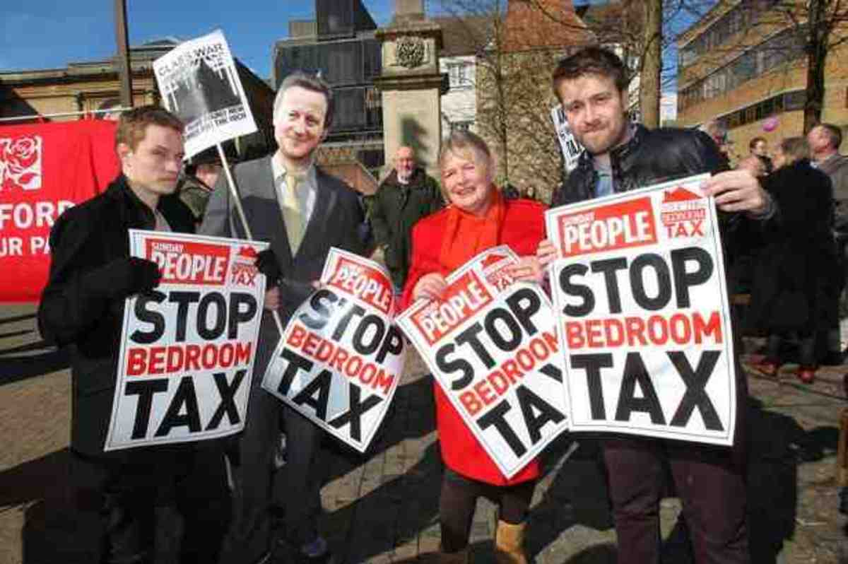 protests against bedroom tax