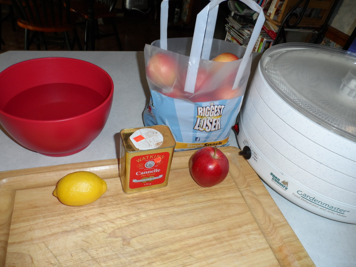 Items needed to create apple chips
