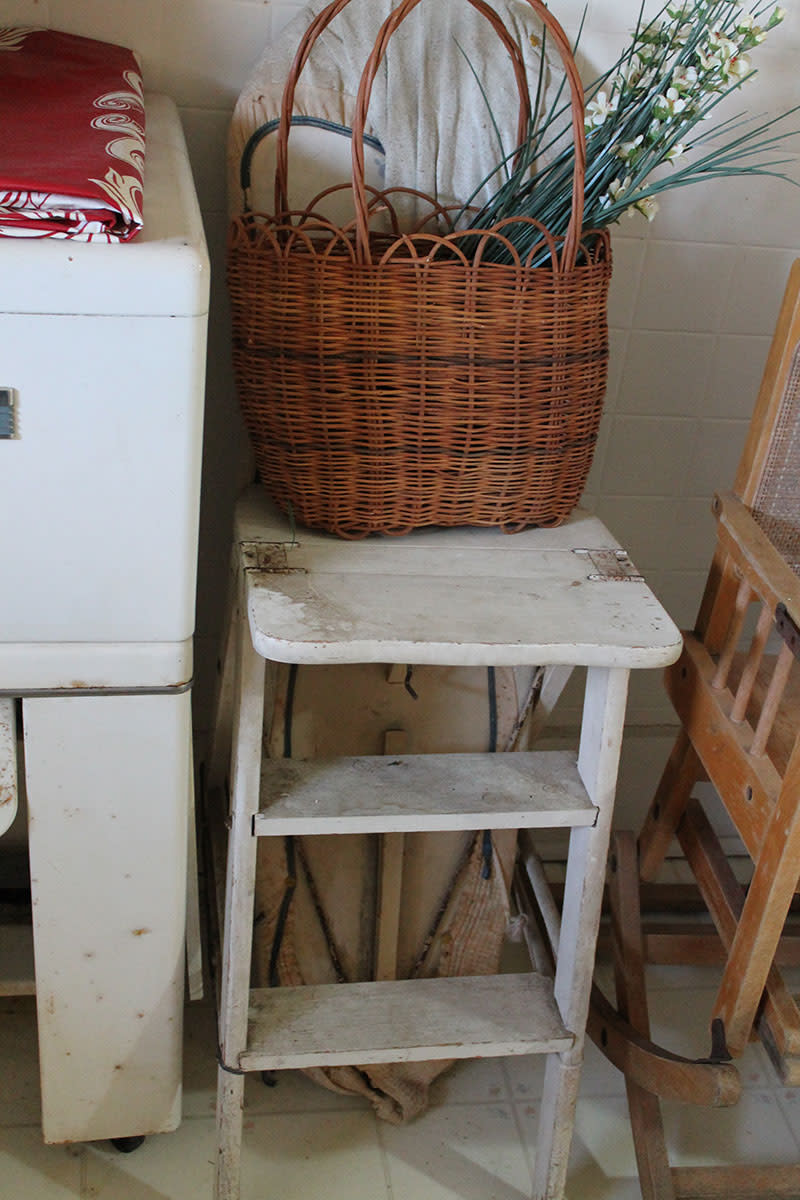 Bachelor ironing board chair.  Reproduction is available at Cottage Craft Works .com