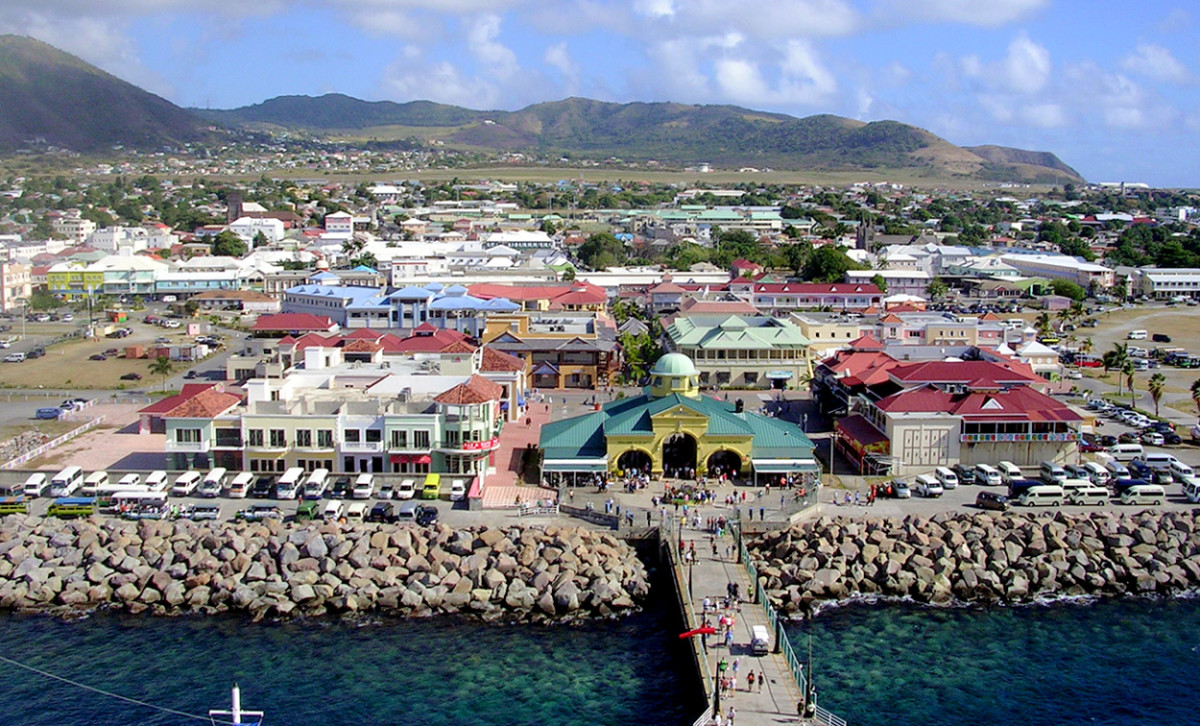 View (From Tourist Ship) of Basseterre, the Federation Capital