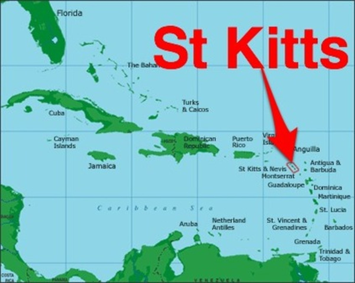 St. Kitts is located in the Eastern Caribbean Leeward Islands