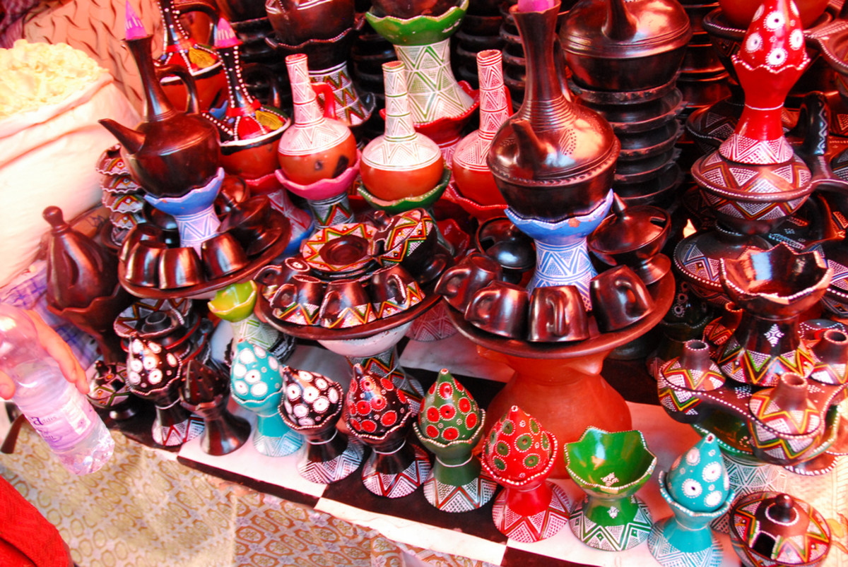 traditional Frankincense oil burners.