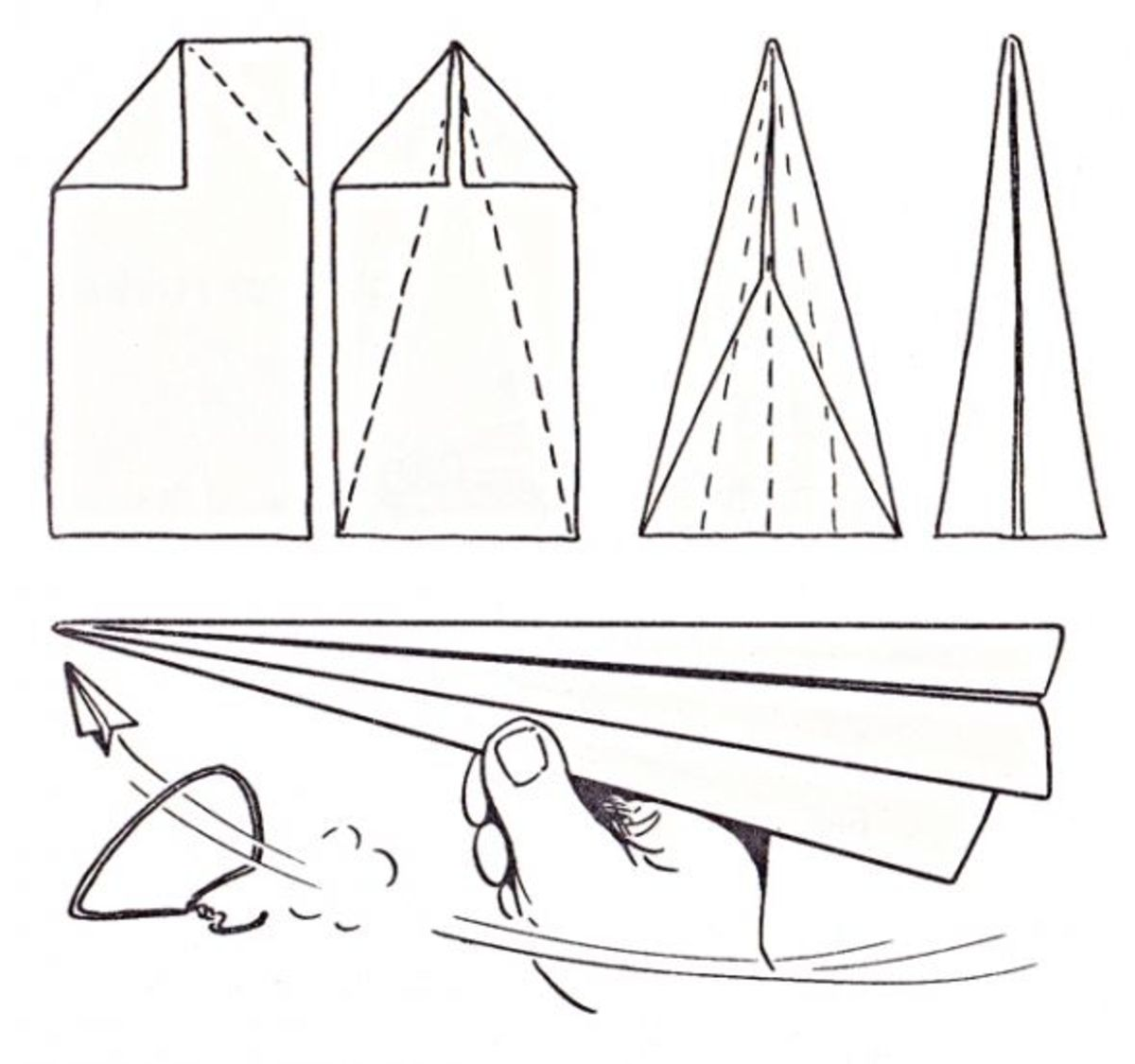 Arrow Hoop Paper Airplane Game Instructions