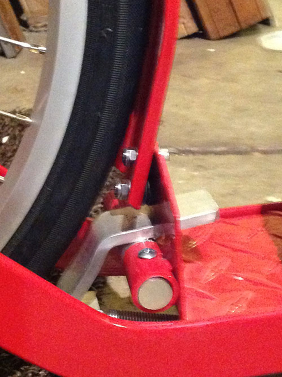 Rear foot brake standard