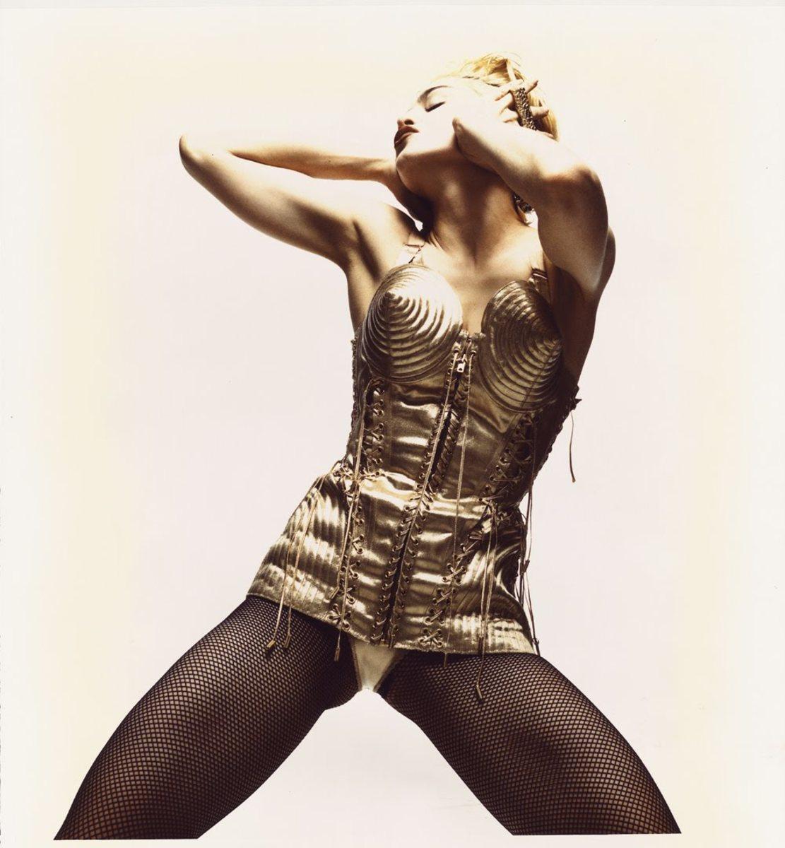 Madonna in Jean Paul Gaultier's famous Corset