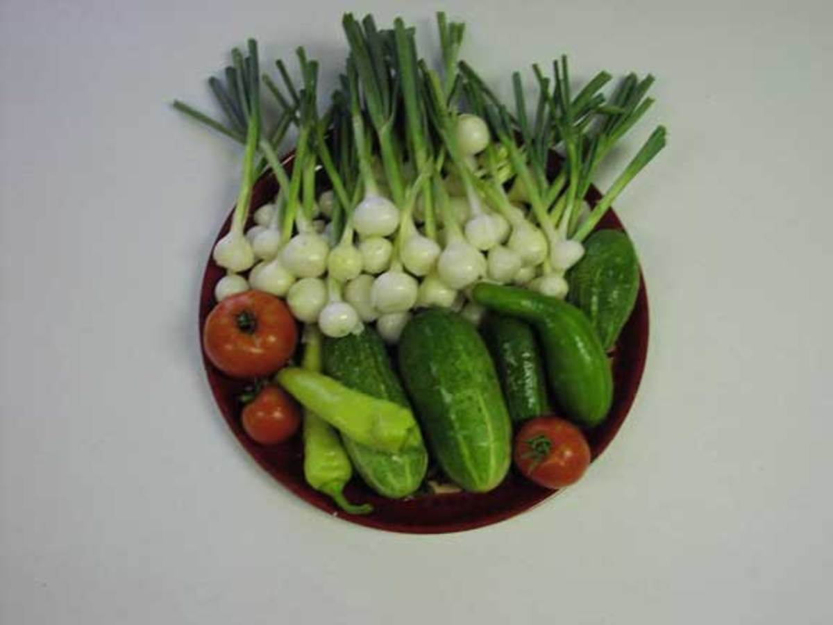 You can slice these vegetables in a variety of ways to create a beautiful garnish to enhance food presentation