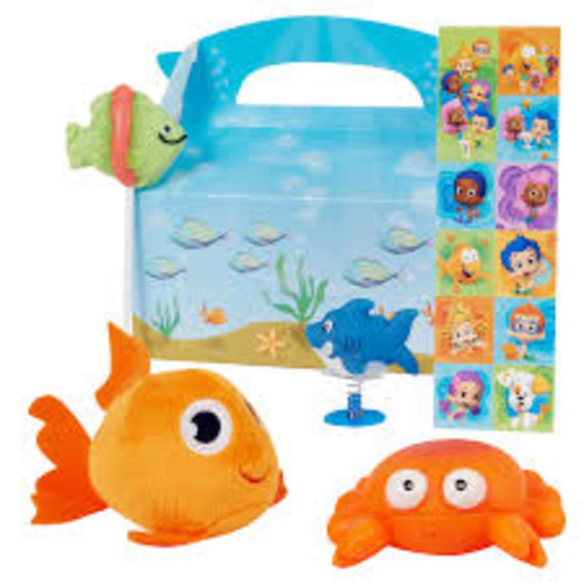 Prefilled Bubble Guppies Party Favor Boxes
