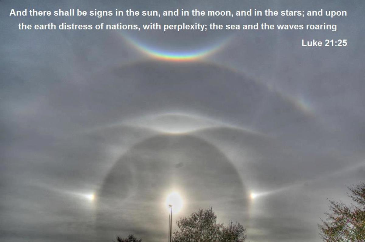 This spectacular sun-dog was photographed near New York less than 48 hours before hurricane Sandy hit.It is not a chembow, though sometimes these events are misidentified as such.