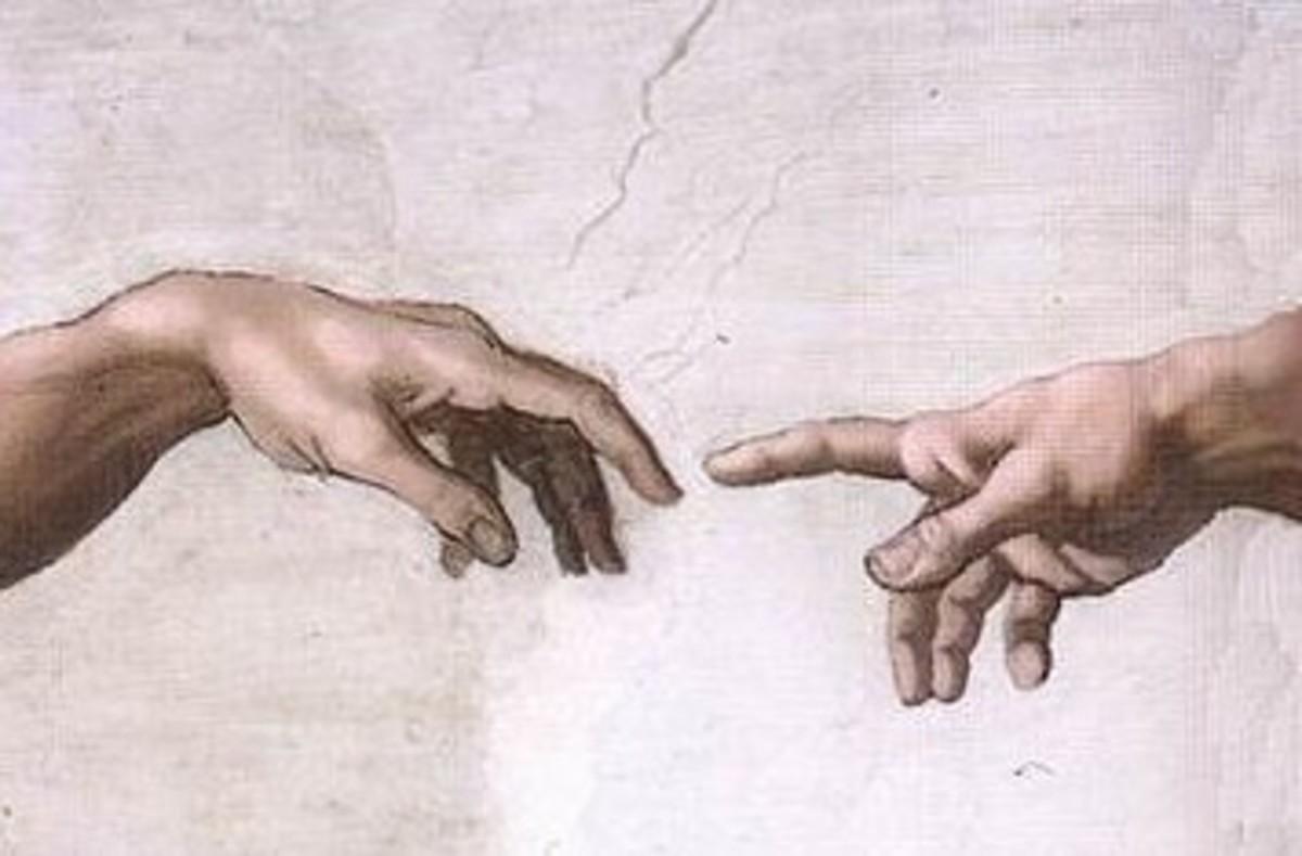 Michelangelo Buonarroti; part of his famous fresco in the Sistine Chapel
