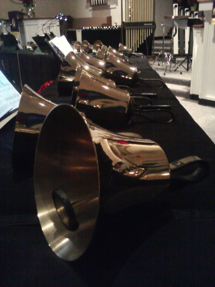 Close-up of handbells