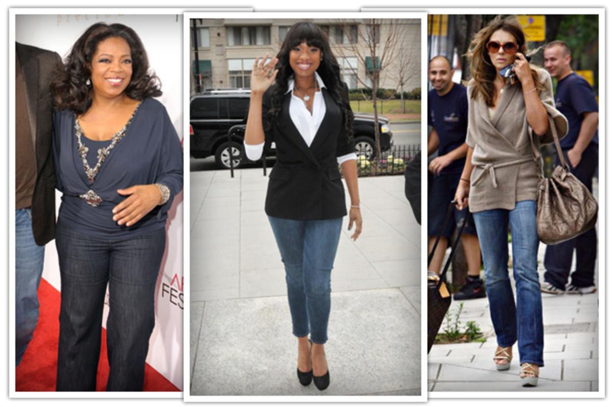 Oprah Winfrey, Jennifer Hudson, Liz Hurley