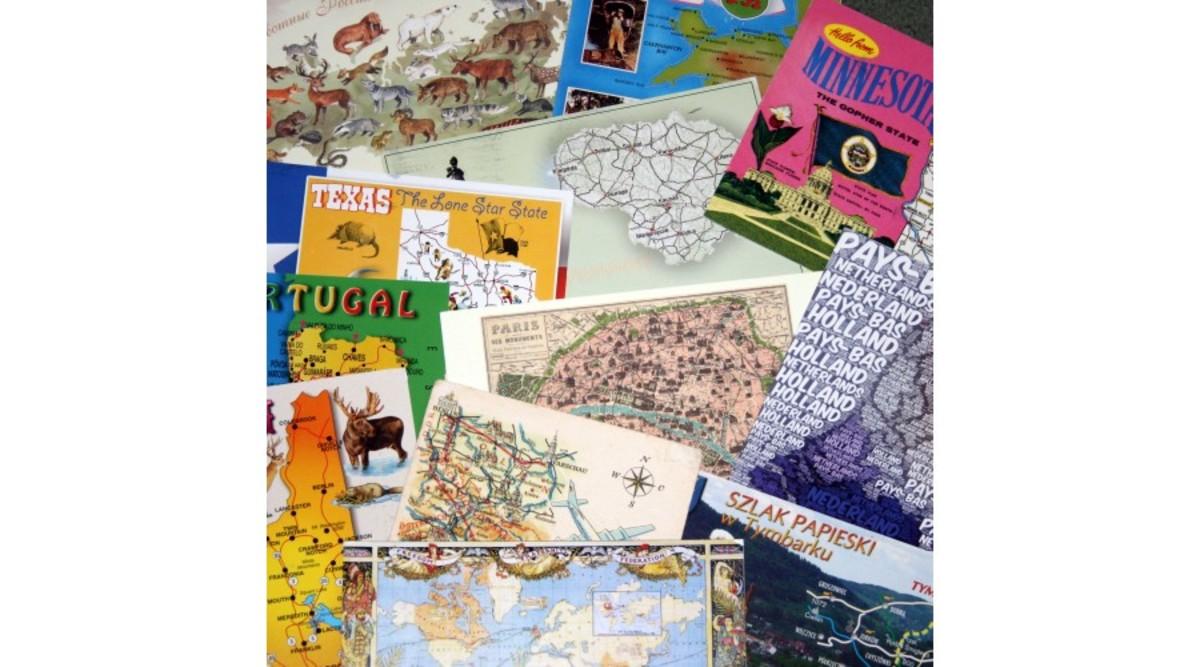 Map postcards