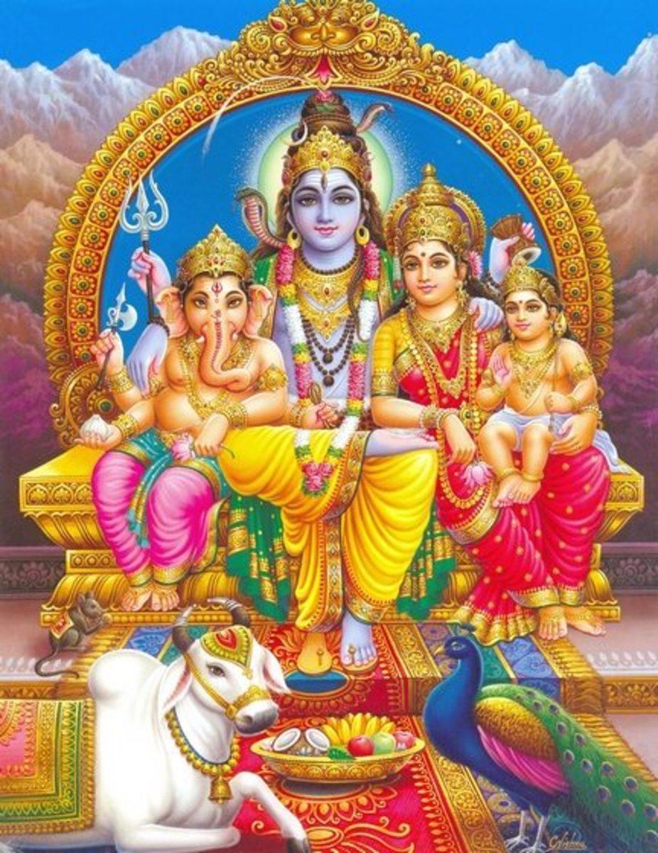 Umapati Shiva -- Shiva the family man.