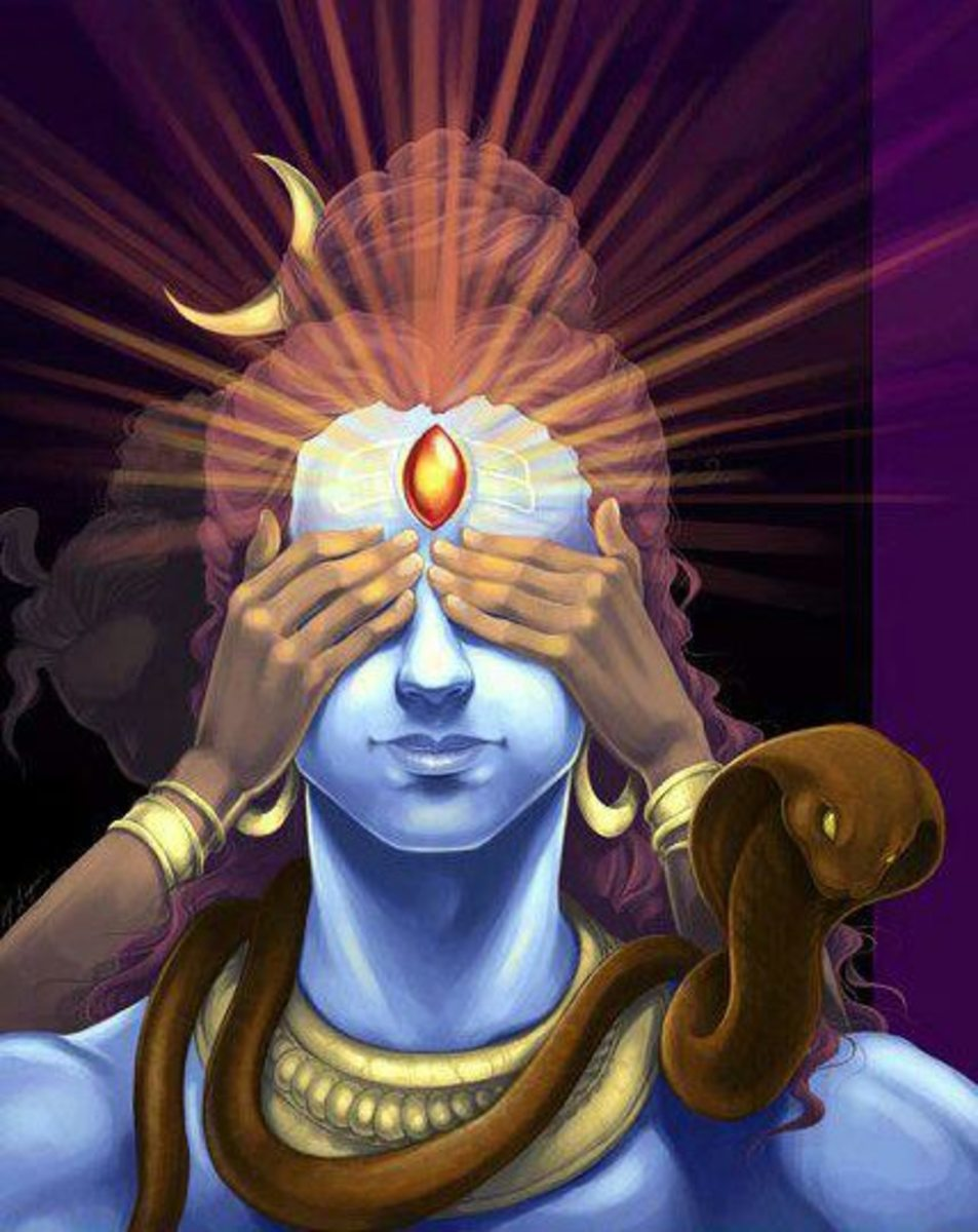 """""""Don't cover my eyes Kama, all existence will cease to be.  Oops, now I have to open my third eye and annihilate you.  Don't worry, I'll revive you."""""""