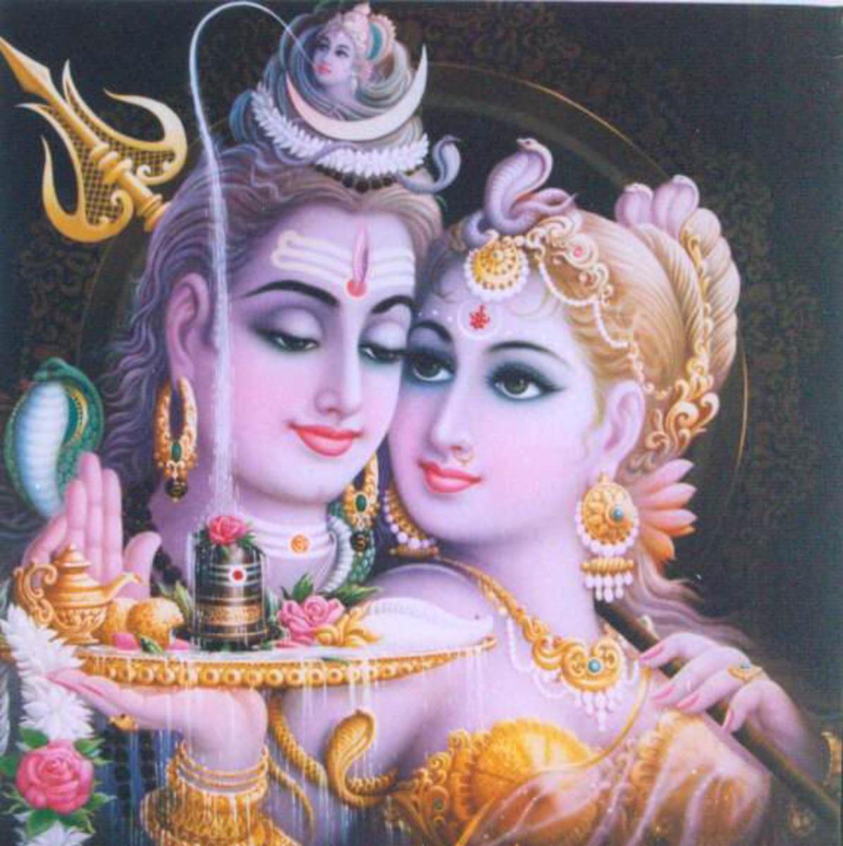 Shiva the erotic.