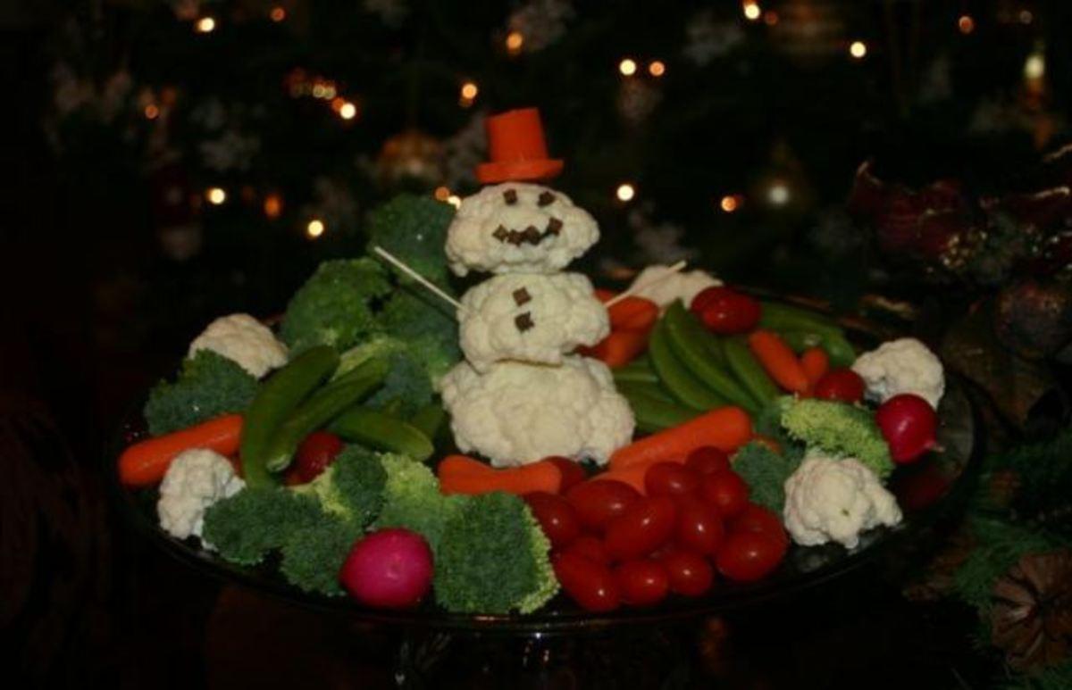 Cauliflower Snowman