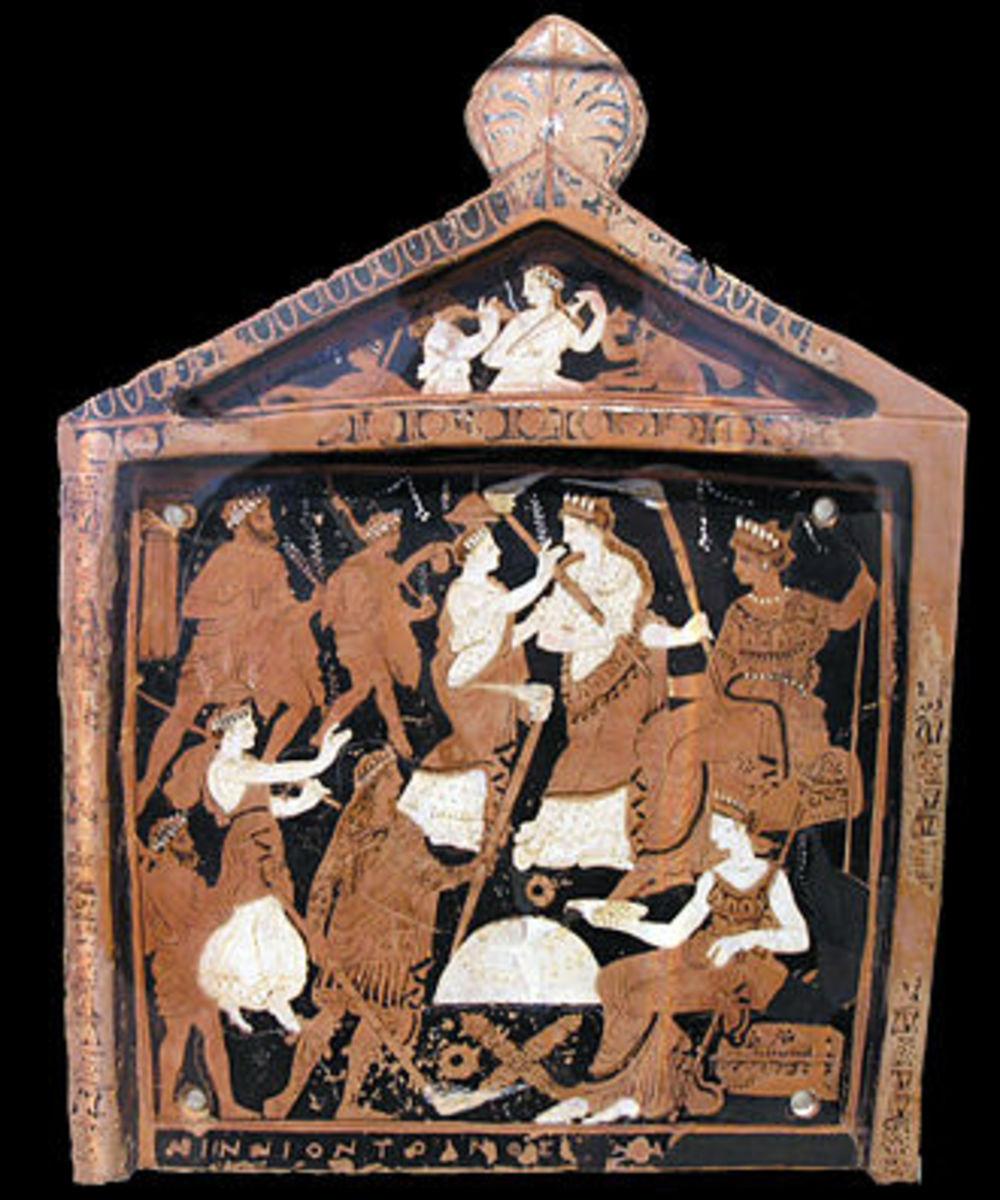 Votive plaque depicting elements of the Eleusinian Mysteries