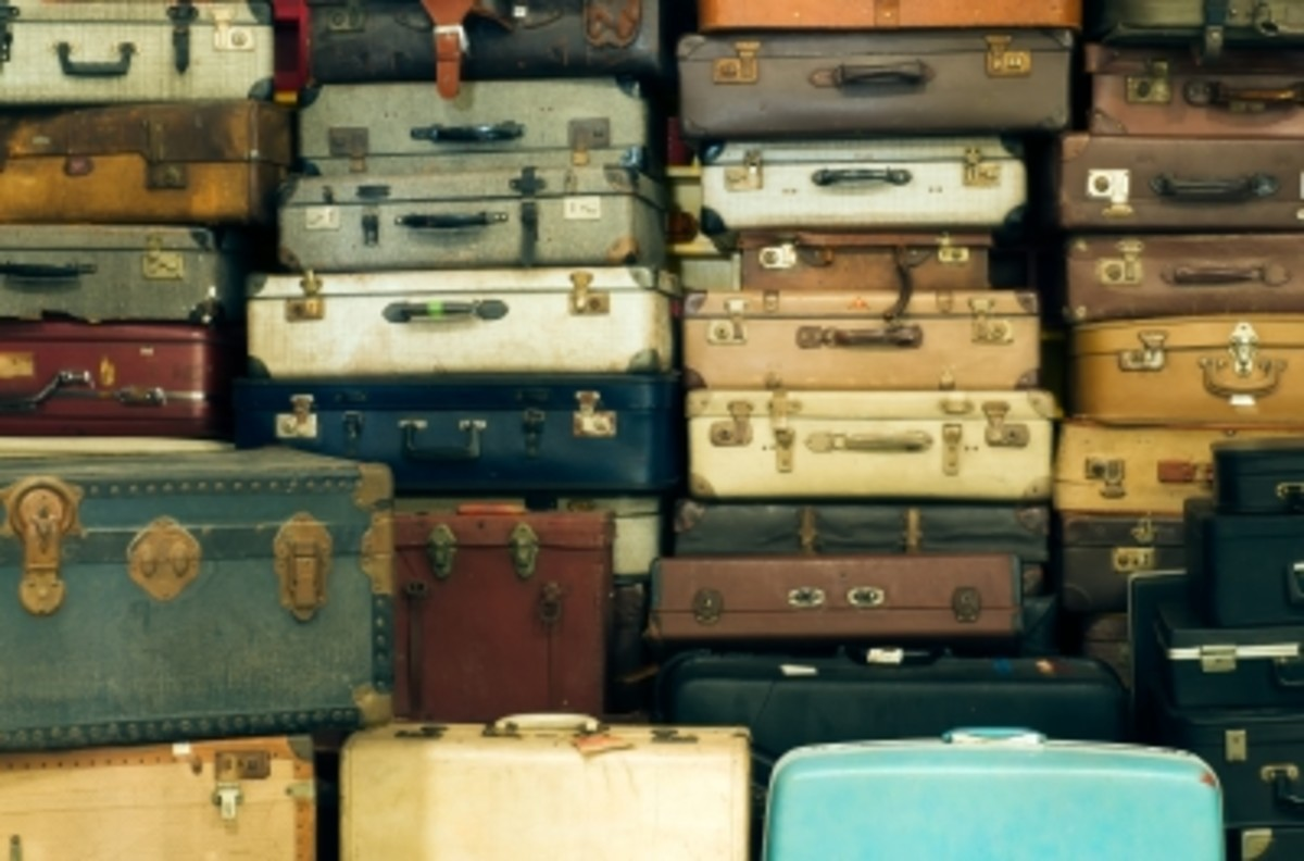 Lots of old luggage